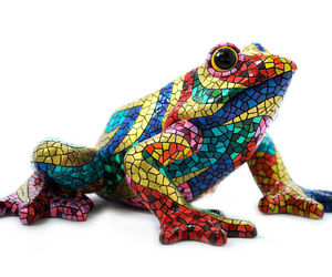 Barcino Designs Carnival Frog Mosaic New brand from Spain, an item from the 'Add a POP of COLOR to your room' hand-picked list