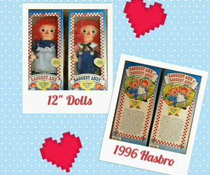 Hasbro Raggedy Ann and Andy Rag Dolls NIB 1996, an item from the 'A Story-Book Romance...' hand-picked list