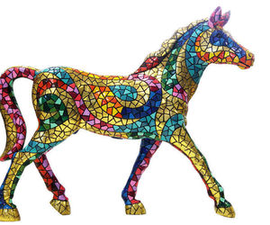 Barcino Carnival Large Horse Sculpture  Hand Painted NEW, an item from the 'Add a POP of COLOR to your room' hand-picked list