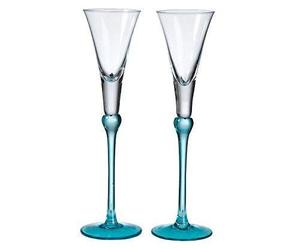 Lillian Rose Aqua Blue Wedding Toasting Flutes Table Decor, an item from the 'A Reception to Remember' hand-picked list