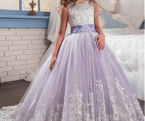 Gorgeous Tulle & Satin Jewel Neckline Ball Gown Flower Girl Dress WLace Applique, an item from the 'Girls Formal Occasion' hand-picked list