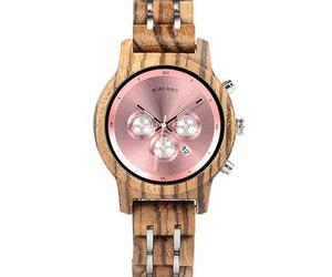 Womens Wooden Watch - Chronograph Rose Gold On Walnut, an item from the 'Watches for Her ' hand-picked list