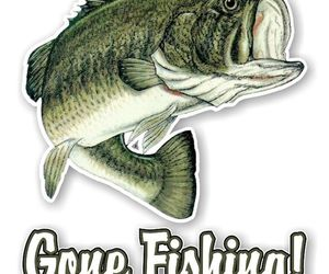 GONE FISHING Largemouth Bass Fish Decal / Sticker Die cut, an item from the 'Community Picks: Gone Fishing' hand-picked list