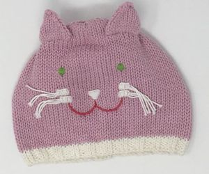 Blabla Kids Girls Knitted Pink Cat Hat Size Medium 6-12 Months NEW, an item from the 'Kids Hats, Mittens, and Scarves' hand-picked list