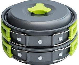1 Liter Pot Camping Cookware Mess Kit Backpacking Gear Hiking Outdoors, an item from the 'Camping Gear' hand-picked list