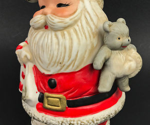 Vintage Santa Claus Coin Piggy Bank #5610 Christmas Homco Made Taiwan, an item from the 'Santas & Snowmen' hand-picked list