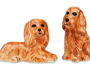 Cocker Spaniel Tan Salt and Pepper Shakers NEW S&P Dogs Rescue Me Now, an item from the 'Community Picks: Invite An Animal to Your Table' hand-picked list