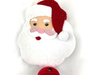 Santa With Jingle Bell Decorative Door Wall Hanging, an item from the 'Handmade Christmas' hand-picked list