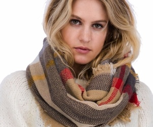 Brown Plaid Pattern Fringe Infinity Scarf , an item from the 'To Infinity (Scarf) and Beyond' hand-picked list
