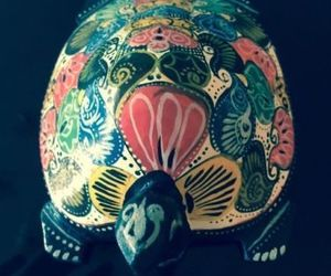 "VTG Hand painted Wooden Multicolor Turtle Figure, an item from the 'ڰۣڿ☸""YOU`RE A SLOW BOKE"".ڰۣڿ☸' hand-picked list"