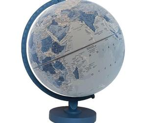 "Replogle World Globe 12"" Blue Wood Base Classroom Home Raised Embossing, an item from the 'A Hue of my Favorite Things' hand-picked list"