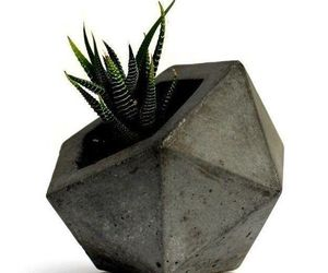 Geodesic Concrete Planter Flower Pot Handmade Home & Garden Decor 2 Colors Avail, an item from the 'Pretty Planters' hand-picked list