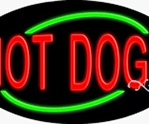 17x30x3 inches Hot Dogs Flashing ON/OFF NEON Advertising Window Sign, an item from the 'Community Picks: Dog Days of Summer' hand-picked list
