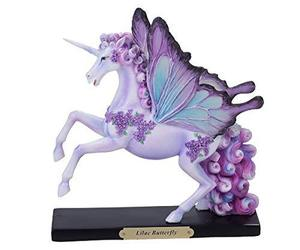 Pacific Giftware PT Official Rose Khan Lilac Butterfly Unicorn Resin Figurine, an item from the 'Community Picks: Believe in Mystical Magic' hand-picked list