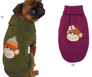 MONKEY BUSINESS DOG SWEATER Pet Winter Warm Green Raspberry sweaters Pet, an item from the 'Dog Costumes and Toys' hand-picked list