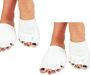 (2 Pairs) Gel Toe Compression Socks For Foot Joint Pain and Pressure Points, an item from the 'Adaptive clothing for disabilities' hand-picked list