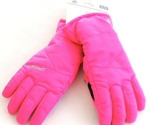 Spyder Bryte Bubblegum Pink Performance Insulated Ski Gloves Youth Girl's NWT, an item from the 'Kids Hats, Mittens, and Scarves' hand-picked list