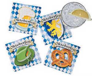 "Oktoberfest Coasters (12 Pack) 4"". , an item from the 'Oktoberfest' hand-picked list"