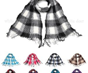 Winkle Ruffle Plaids Checks Wave Fluffy Scarf Soft Fashion Wrap Multi Color, an item from the 'Kids Hats, Mittens, and Scarves' hand-picked list