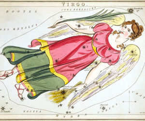 Virgo Constellation; Astrology Star Chart; Zodiac Engraving by Sidney Hall, an item from the 'Zodiac Shrine' hand-picked list