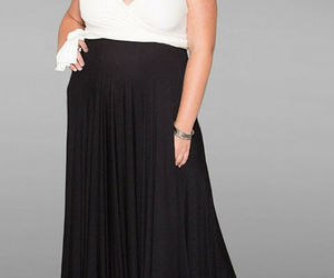 Sexy SWAK Designs Plus Eternity Wrap Party Maxi Dress Black/White Tuxedo 1x-3x, an item from the 'Time For A Change...' hand-picked list