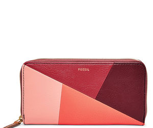 New Fossil Women's Jayda Zip Around Clutch Red Multi, an item from the 'Cute Clutches' hand-picked list