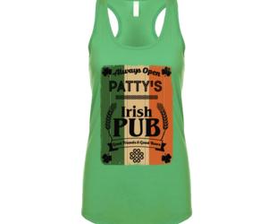 Patty'irish Pub St.patricks Day Ladies Ra Eererberbaerback Tanktop, an item from the 'St. Patrick's Day' hand-picked list