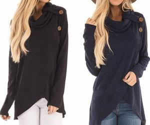 Women Autumn Winter Long Sleeve Casual Solid Sweatshirt Pullover Top Blouse, an item from the 'Fabulous Fall Fashions' hand-picked list