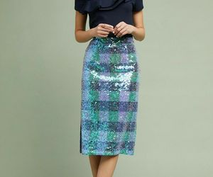 NWT ANTHROPOLOGIE BRIX SEQUINED PALETTE MIDI SKIRT by MAEVE 6, an item from the 'Fearless & Fashion Forward' hand-picked list