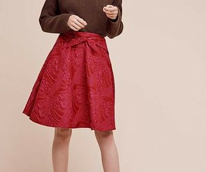 New $168 Anthropologie Freesia Bow Skirt by Eva Franco RED/PINK Size 4, an item from the 'Free Fall-ing' hand-picked list