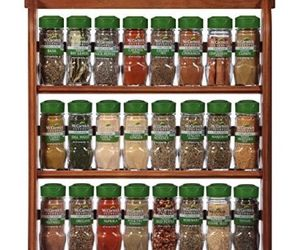 McCormick Gourmet Spice Rack, Brown, 3 Tier Wood 24-Count, Herbs Spices & Blends, an item from the 'The Spice is Right' hand-picked list