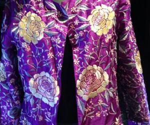 Vintage Style Adrianne Landau Purple Silk Jacket Flower Embroidery , an item from the 'Purple Passion' hand-picked list