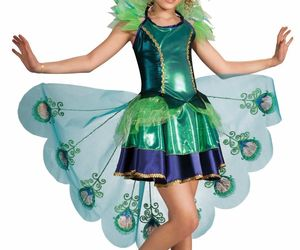 Child PEACOCK ANIMAL MAJESTIC HALLOWEEN FEATHERS KIDS COSPLAY COSTUME 887098, an item from the 'Kids Halloween Costumes' hand-picked list