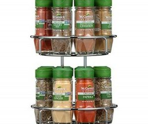 McCormick Gourmet Spice Rack 2 Tier Chrome Silver 16-Count Herbs Spices & Blends, an item from the 'The Spice is Right' hand-picked list