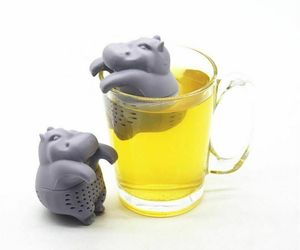 AIHOME Silicone Hippo Shaped Tea Infusers Reusable  Loose Filter Strainer Tool, an item from the 'Friends in the Kitchen' hand-picked list