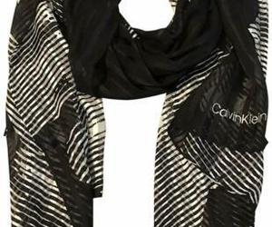 Calvin Klein Women's Graphic Floral Chiffon Long Scarf (Black/White,  One Size), an item from the 'Hay(ride) Fever' hand-picked list