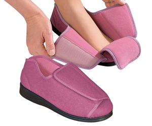 Womens Extra Wide Adaptive Deep Diabetic & Edema Slippers bySilvert's,Sizes 6-12, an item from the 'Adaptive clothing for disabilities' hand-picked list