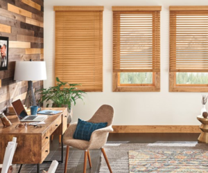 "Bali 1"" Northern Heights Wood Blinds Maple 23 3/4"" x 37 7/8"" window treatments, an item from the 'No Place Like Home' hand-picked list"