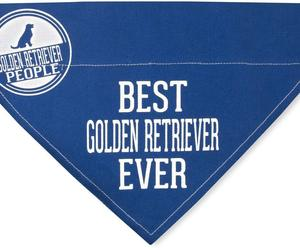 "Best Golden Retriever Ever Bandana New Blue Slip On Over Collar 12""x8"" Large, an item from the 'Love Dogs?' hand-picked list"
