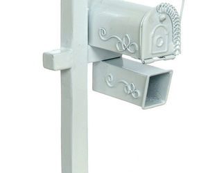 Dollhouse Miniature - Outdoor Rural Metal Mailbox Stand with Paperbox, an item from the 'Community Picks: Pint Sized Dollhouse Miniatures' hand-picked list