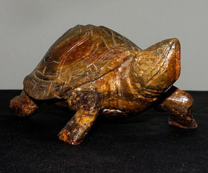 "HUGE STUNNING BROWN MARBLE STONE CARVING TURTLE ANIMAL FIGURINE STATUE GLAZED, an item from the 'ڰۣڿ☸""YOU`RE A SLOW BOKE"".ڰۣڿ☸' hand-picked list"