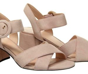 J Crew Women's Suede Penny Sandals Heels Pumps Open Toe 7.5 Subtle Pink J8229, an item from the 'Free Fall-ing' hand-picked list