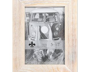 Lawrence Frames Weathered 5x7 Sarasota Whitewash Wood Picture Frame, an item from the 'Tokens of Friendship' hand-picked list