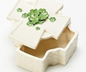Roman Inc Cross Shamrock Keepsake Box, an item from the 'St. Patrick's Day' hand-picked list