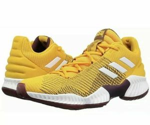adidas Mens Pro Bounce 2018 Low ASU Basketball Shoe NCAA B41866 Size 9, an item from the 'Shoes for Dudes' hand-picked list