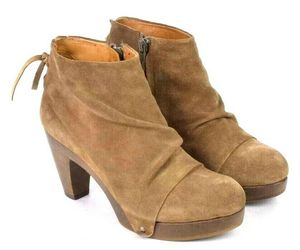 Coclico Brown Suede Leather Ankle Boots Booties Zip Womens EU 37 / US 6.5 - 7, an item from the 'Cute Booties' hand-picked list