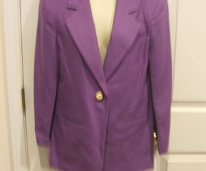NWT $149 SAVANNA  100% WOOL IRIS PURPLE  car coat blazer jacket size 4, an item from the 'Purple Passion' hand-picked list