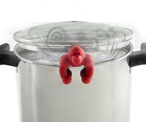 Norpro Ape Escape Silicone Pot Lid Vent - Helps Prevent Boil Over! Red, an item from the 'Friends in the Kitchen' hand-picked list