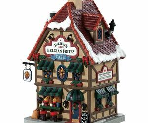 NEW 2018 Lemax Lighted Building Julien' Belgian Frites Cafe Christmas Decor Gift, an item from the 'It's the Holiday Season' hand-picked list
