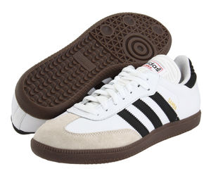 Mens Adidas Samba Classic White Athletic Indoor Soccer Shoe, an item from the 'Mens Shoes' hand-picked list